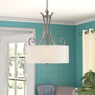 Online Reviews Timpkins 3-Light Drum Chandelier By Charlton Home