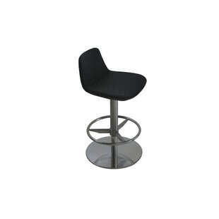 Elmdale Adjustable Height Swivel Bar Stool Orren Ellis