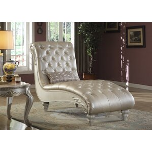 Beazleys Leather Chaise Lounge by Astoria Grand