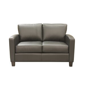 Adeen Leather Loveseat by ..