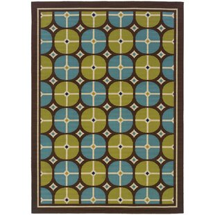 Aziz Brown/Green/Blue Indoor/Outdoor Area Rug