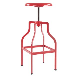 Compton Adjustable Height Swivel Bar Stool by Williston Forge