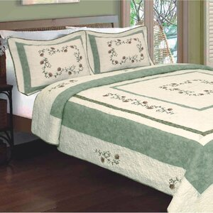 Fallon Flower Embroidery Quilt