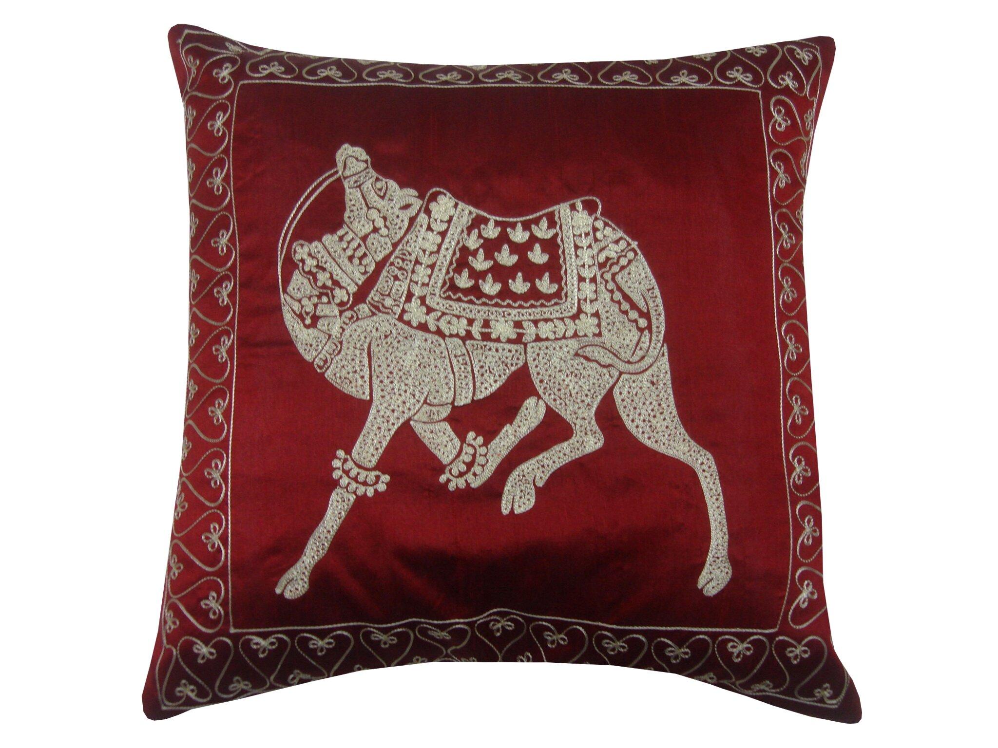 Divine Home Ceremonial Camel Throw Pillow Wayfair
