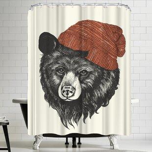 Laura Graves Zissou The Bear Shower Curtain