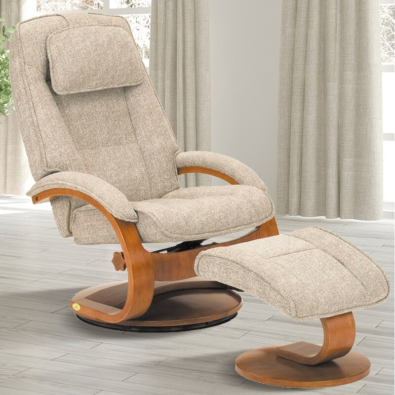 Billings Manual Swivel Recliner with Ottoman