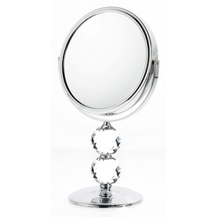 Double Crystal Makeup/Shaving Mirror ByDanielle Creations