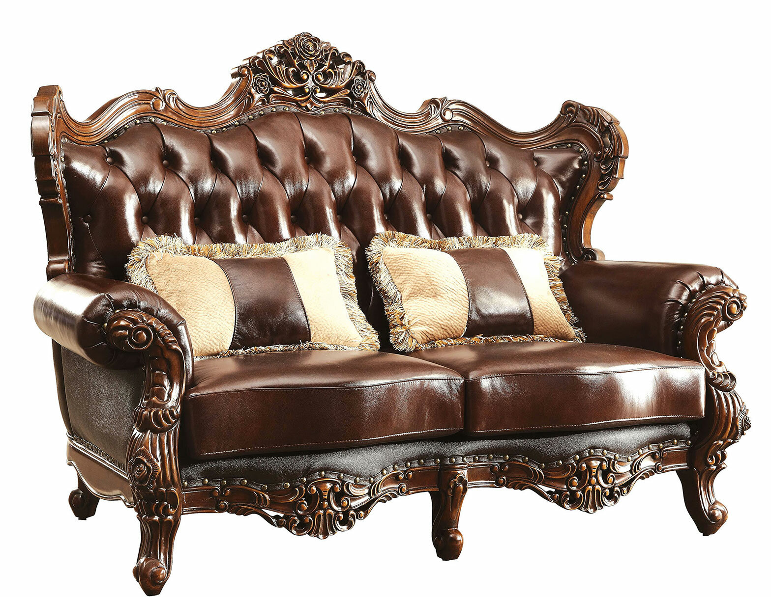 Andrewhomestudio Branch 71 5 Leather Match Rolled Arm Loveseat Wayfair