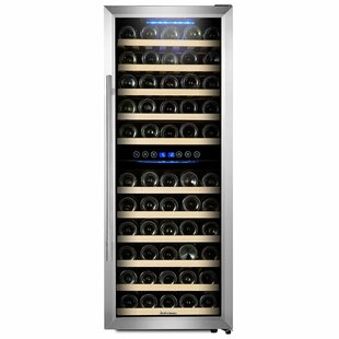 73 Bottle Dual Zone Freestanding Wine Cooler by Kalamera