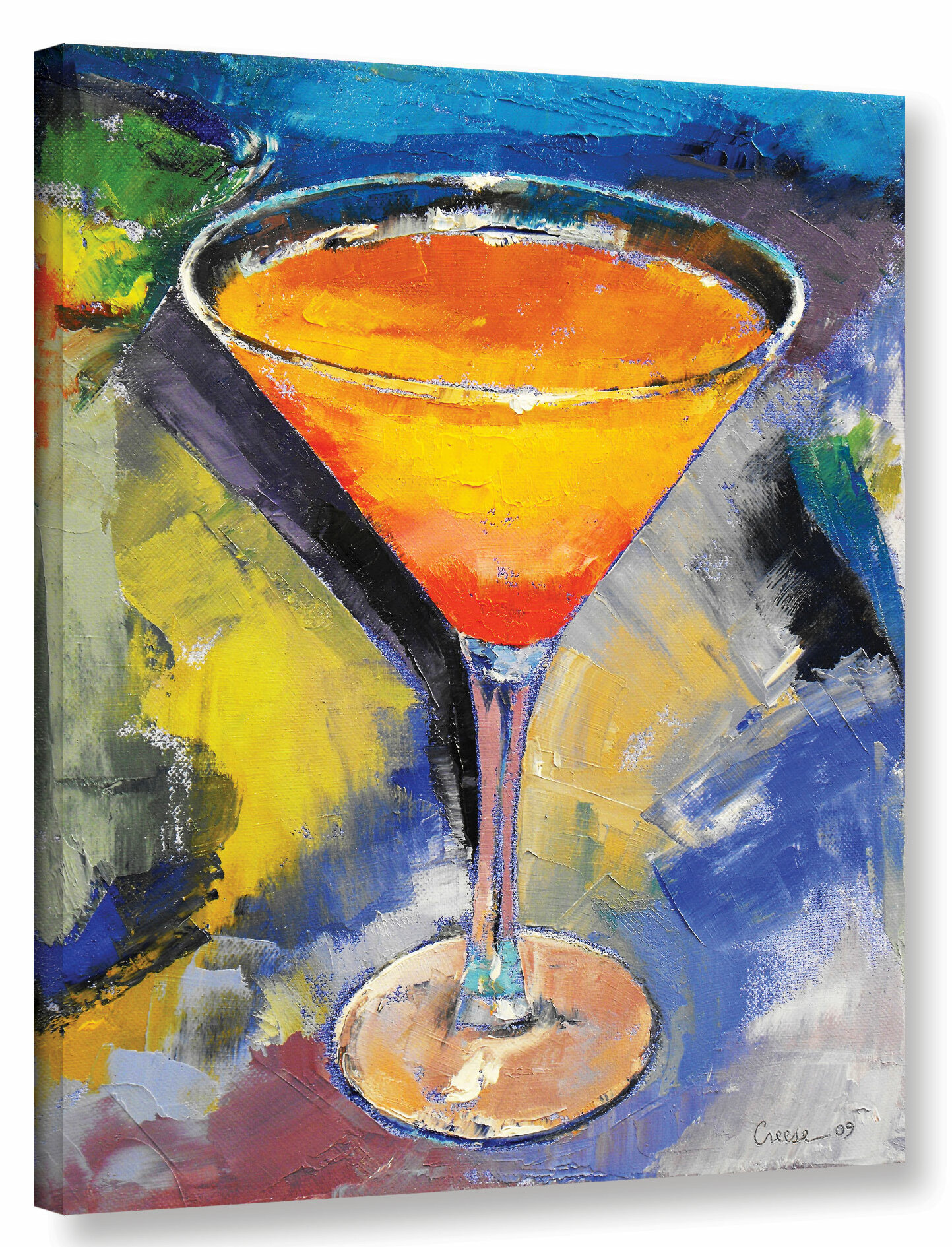 Ivy Bronx Mango Martini Painting Print on Wrapped Canvas | Wayfair