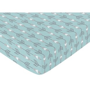 Shop For Arrow Earth and Sky Print Fitted Crib Sheet By Sweet Jojo Designs