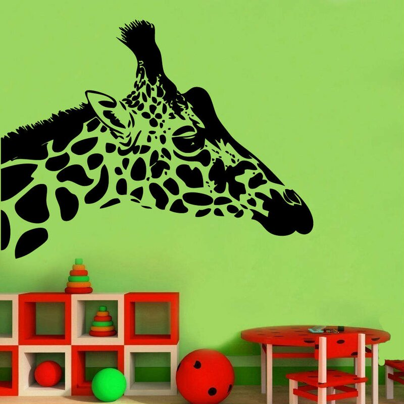 kult kanvas giraffe head decal wall sticker | wayfair.co.uk