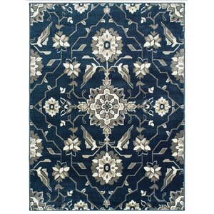 Dartington Borderless Traditional Blue/Grey Area Rug
