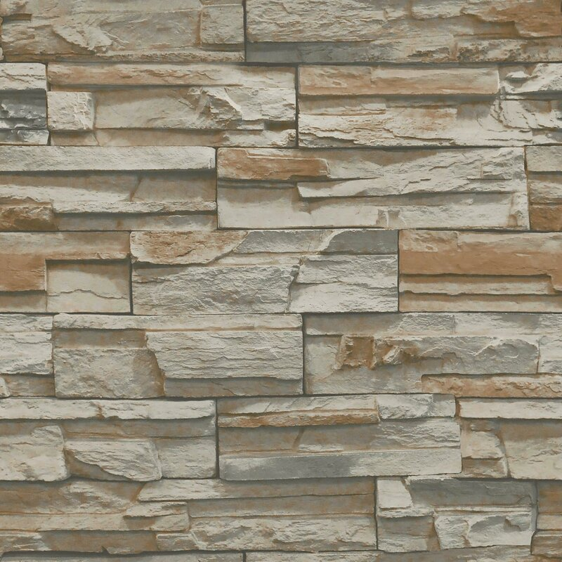 York Wallcoverings Natural Elements 33 x 205 Flat Stone