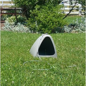 Liddle Dogeden Open Yard Series Dog House with Tie-Out