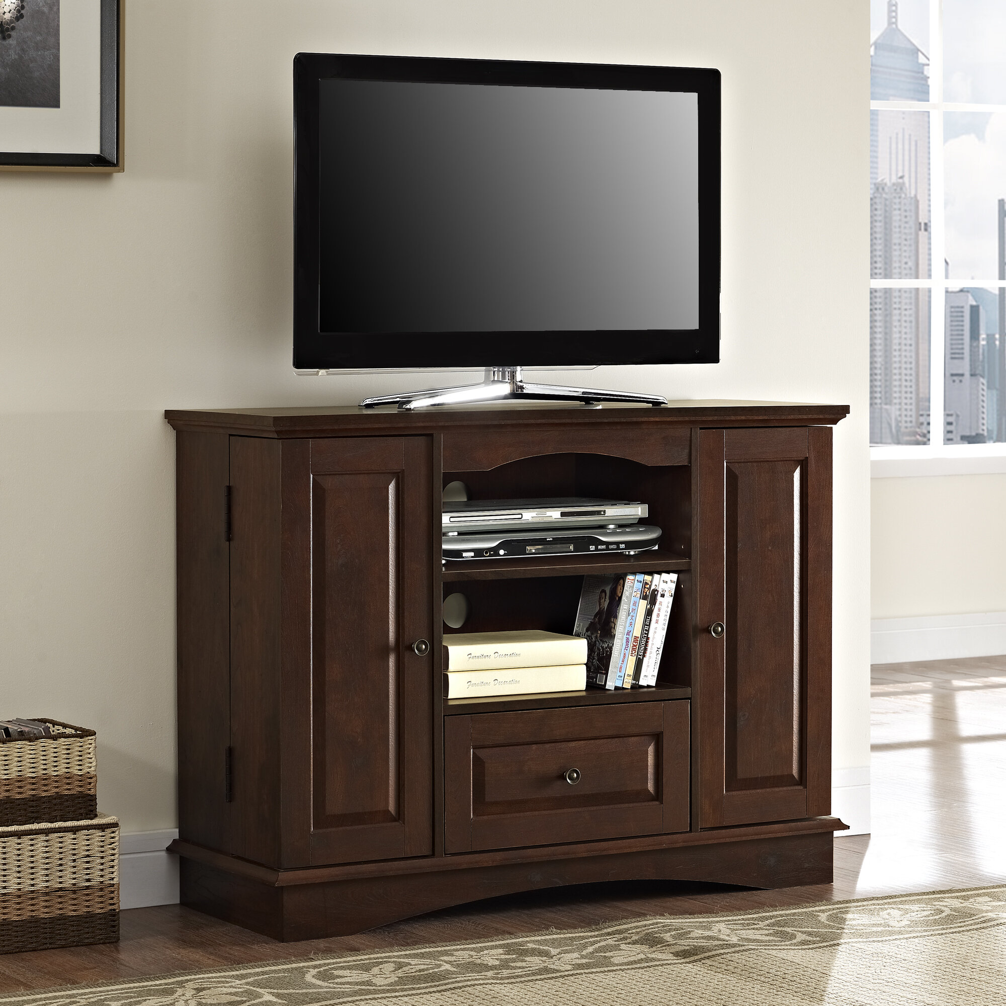 Charlton Home Phillipston Tv Stand For Tvs Up To 48 Reviews Wayfair