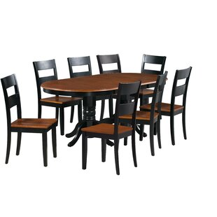 Dahlberg 9 Piece Extendable Solid Wood Dining Set August Grove