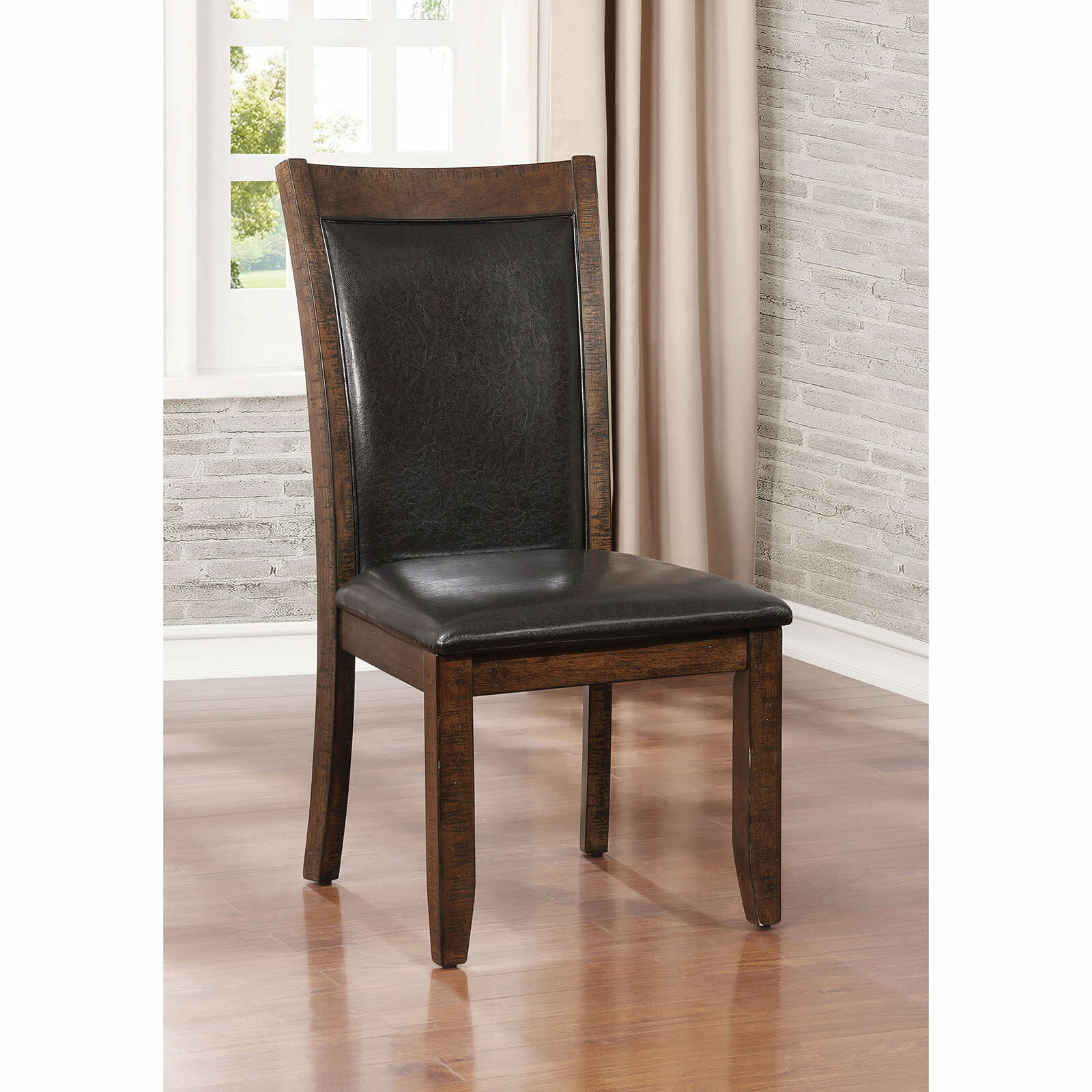 Loon Peak Herbert Upholstered Dining Chair Reviews Wayfair