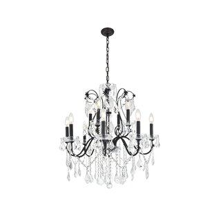 Great choice Thao 12-Light Crystal Chandelier By Rosdorf Park