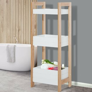 Bamboo 19.5 X 76cm Bathroom Shelf