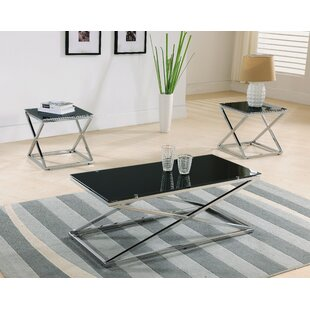 Maderia 3 Piece Coffee Table Set Brayden Studio