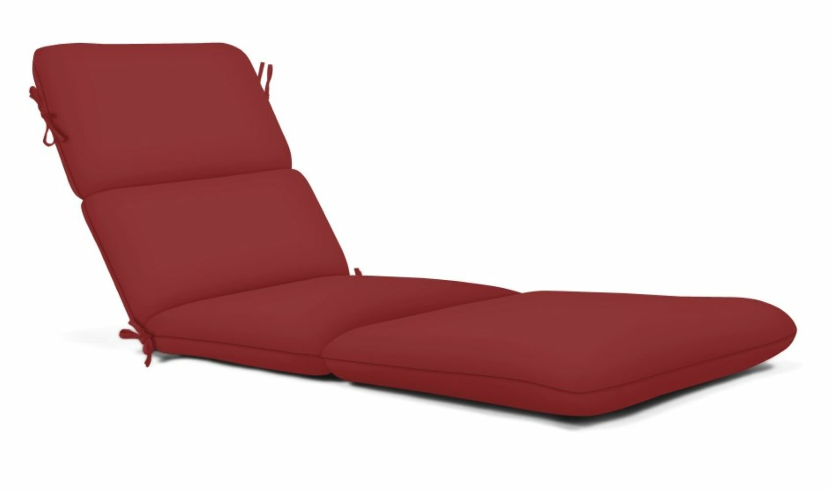 - Outdoor Patio Chaise Lounge Cushion Seat French Edge Ties Red