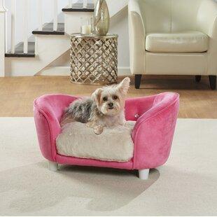 Lorna Ultra Plush Snuggle Dog Sofa With Cushion