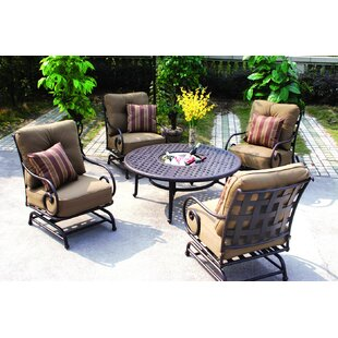 Lenhardt Spring Base Patio Dining Chair with Cushion