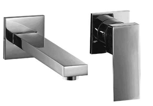 Bathroom Faucet Wall Mount alfi brand single handle wall mounted bathroom faucet & reviews