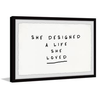 Ebern Designs Pink Love Picture Frame Textual Art Print On Paper Wayfair