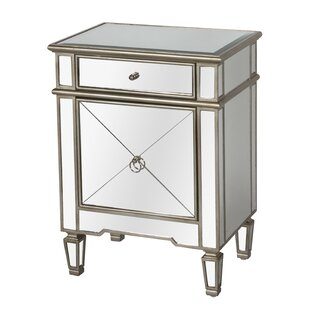 Mirrored 1 Drawer Nightstand