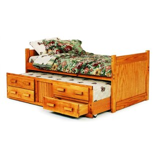 Twin Captain Bed with Trundle and Storage By Chelsea Home