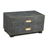 Vernita Shagreen Coffee Table with Storage by Everly Quinn