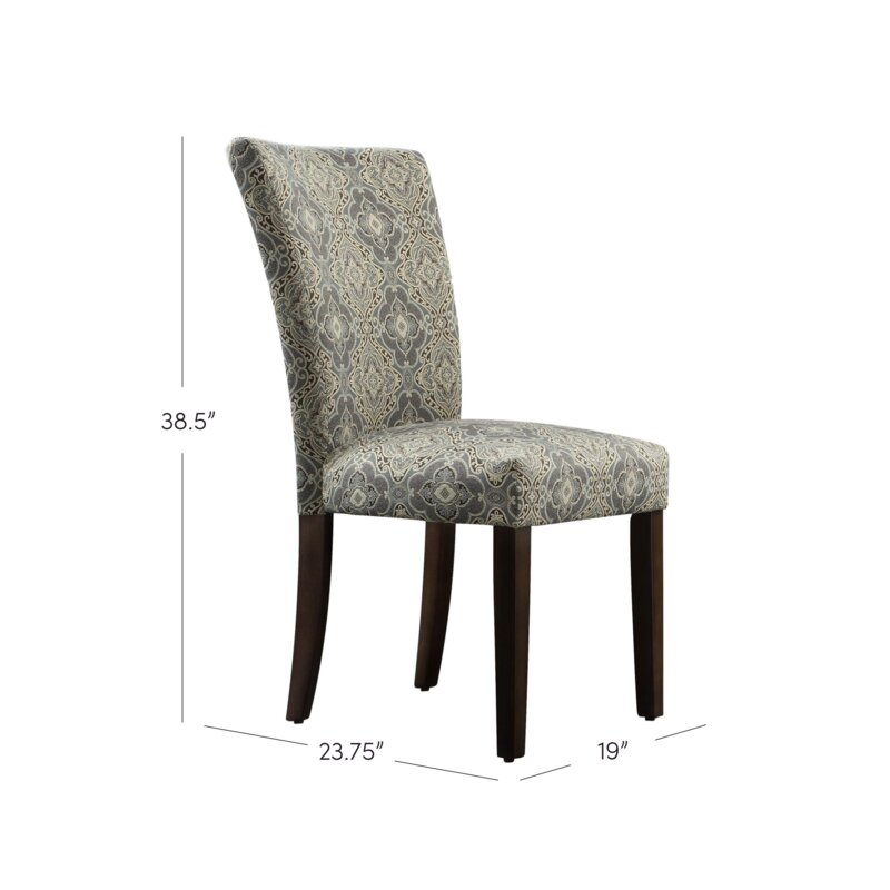 Sture Damask Print Parson Chair
