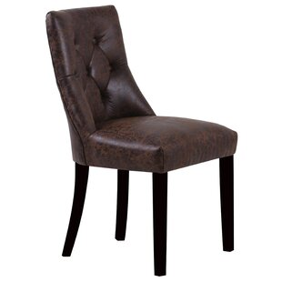 Stace Side Chair in Faux Leather - Brown (Set of 2)