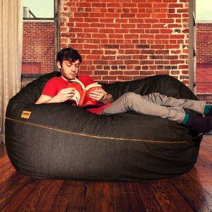 Denim 5.5' Bean Bag Lounger by Latitude Run