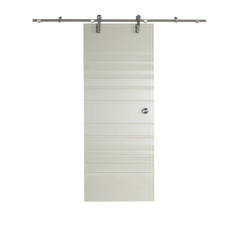 Ltl Barn Doors New Vision Silhouette Gl Door With Installation Hardware Kit Wayfair