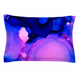 Claire Day 'Purple Jellies' Abstract Painting Sham
