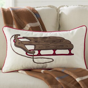 Alba Wooden Sled Pillow Cover by The Holiday Aisle Today Sale Only