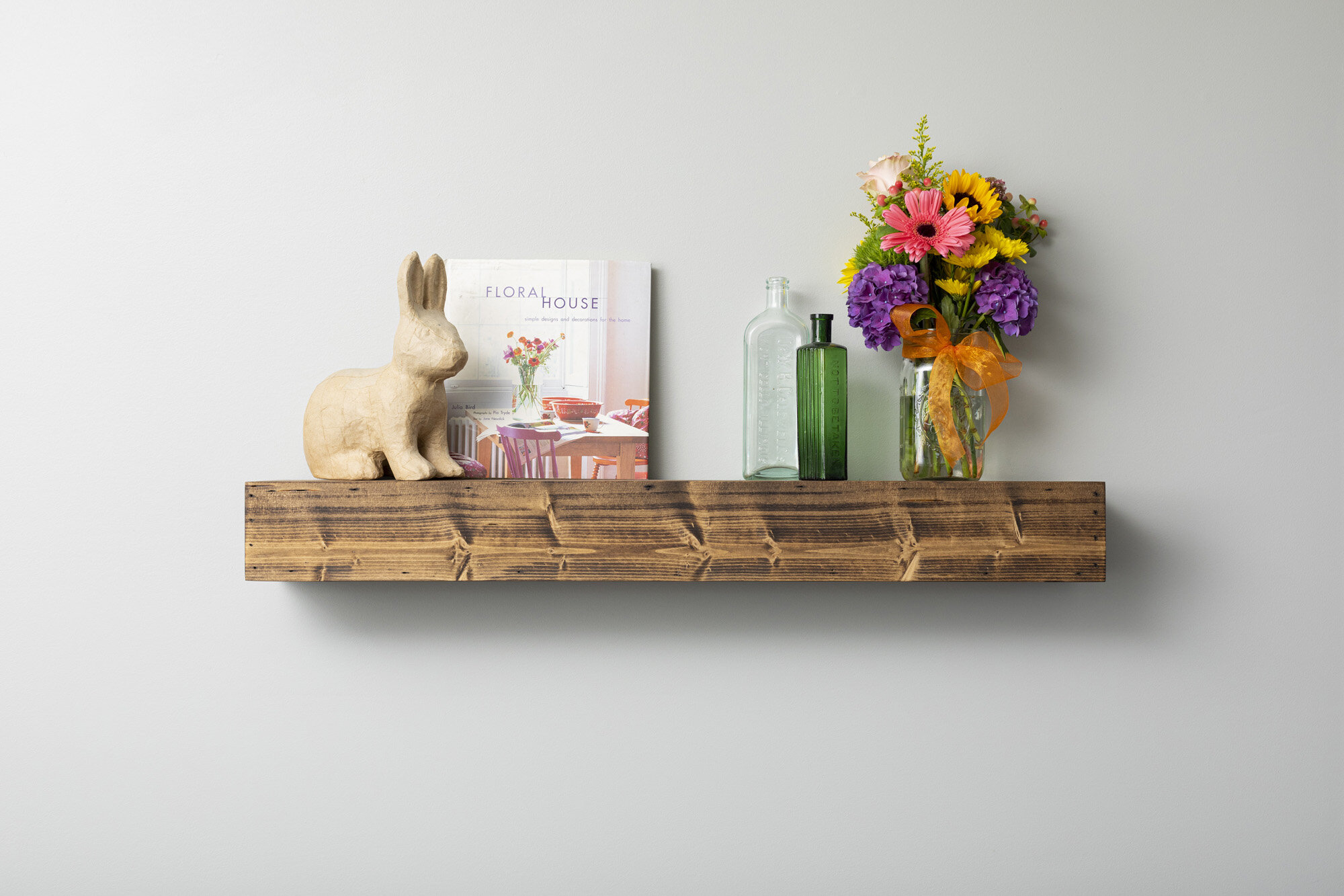 floating wood wall display shelves c a a