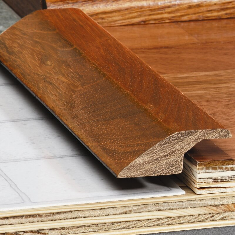 Artistic Finishes Maple Wood 0 35 Thick 1 5 Wide 78 Length Overlap Reducer Wayfair