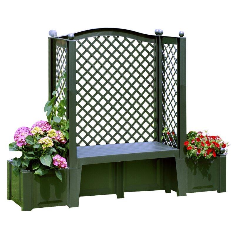 khw bank mit blumenkasten kopenhagen aus kunststoff bewertungen. Black Bedroom Furniture Sets. Home Design Ideas