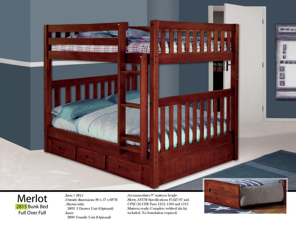 kaitlyn full over full bunk bed