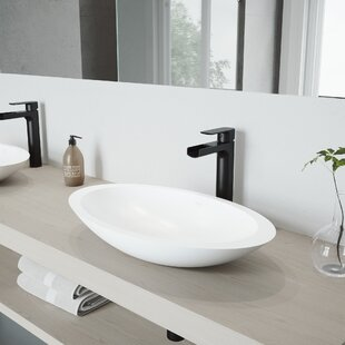 Buying Wisteria Stone Oval Vessel Bathroom Sink with Faucet By VIGO