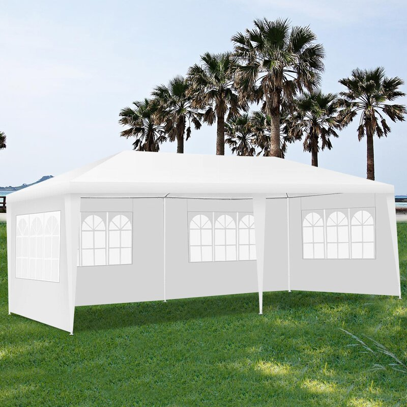 Angeles Home Wedding 20 Ft W X 10 Ft D Steel Party Tent Canopy Reviews Wayfair