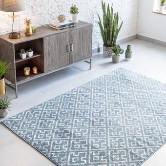 Foundry Select Rolla Abstract Blue Area Rug Reviews Wayfair