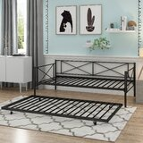 Swank Metal Twin Daybed with Trundle by Winston Porter