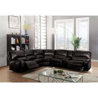 Latitude Run Antima 94 5 Wide Symmetrical Reclining Corner Sectional With Ottoman Wayfair