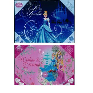Disney Princess Light Up 2 Piece Graphic Art Set On Canvas