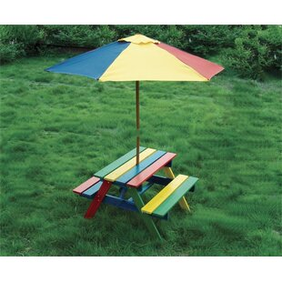 Rainbow Kids' 3 Piece Picnic Table by Pier Surplus